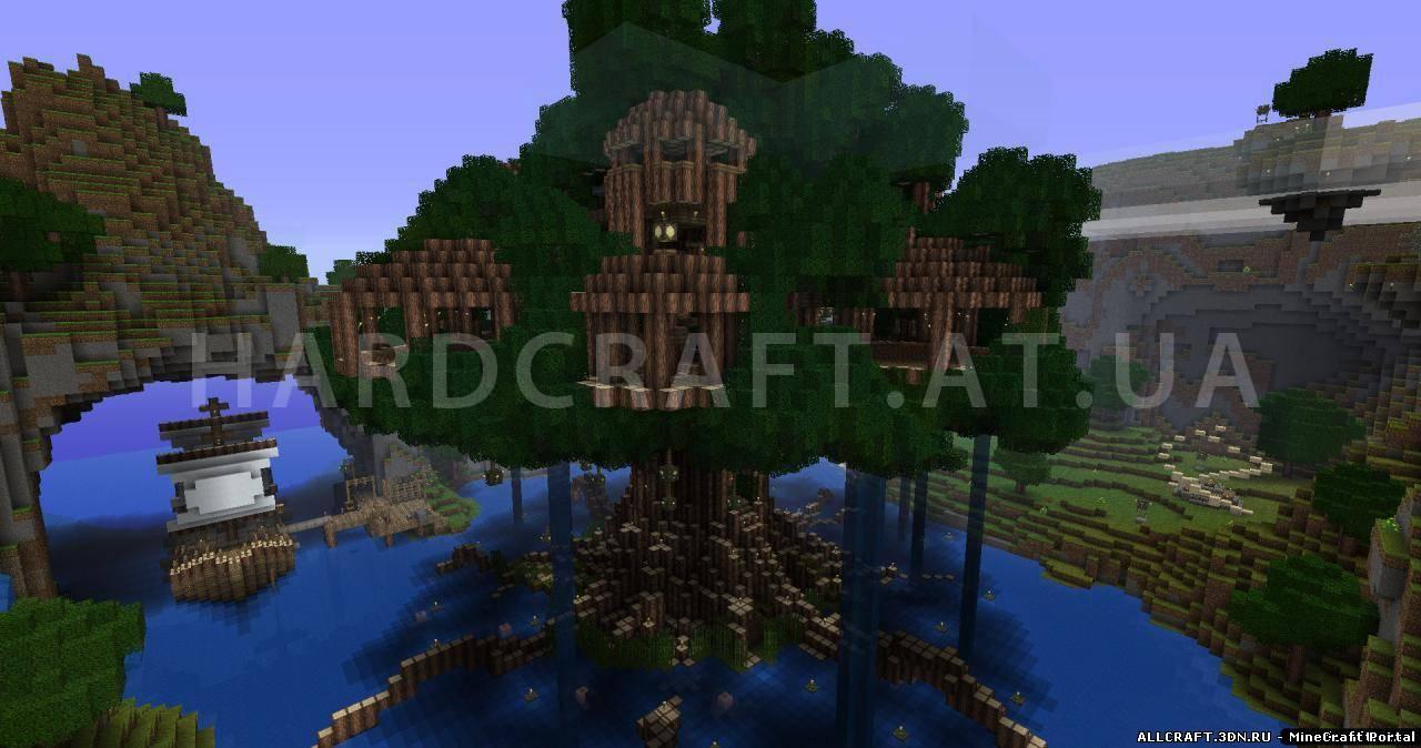 карта для майнкрафт домик на дереве #11